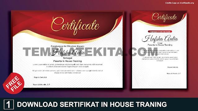 Free File : Cara Membuat Desain Sertifikat In House Tranining IHT Dengan Ms Word
