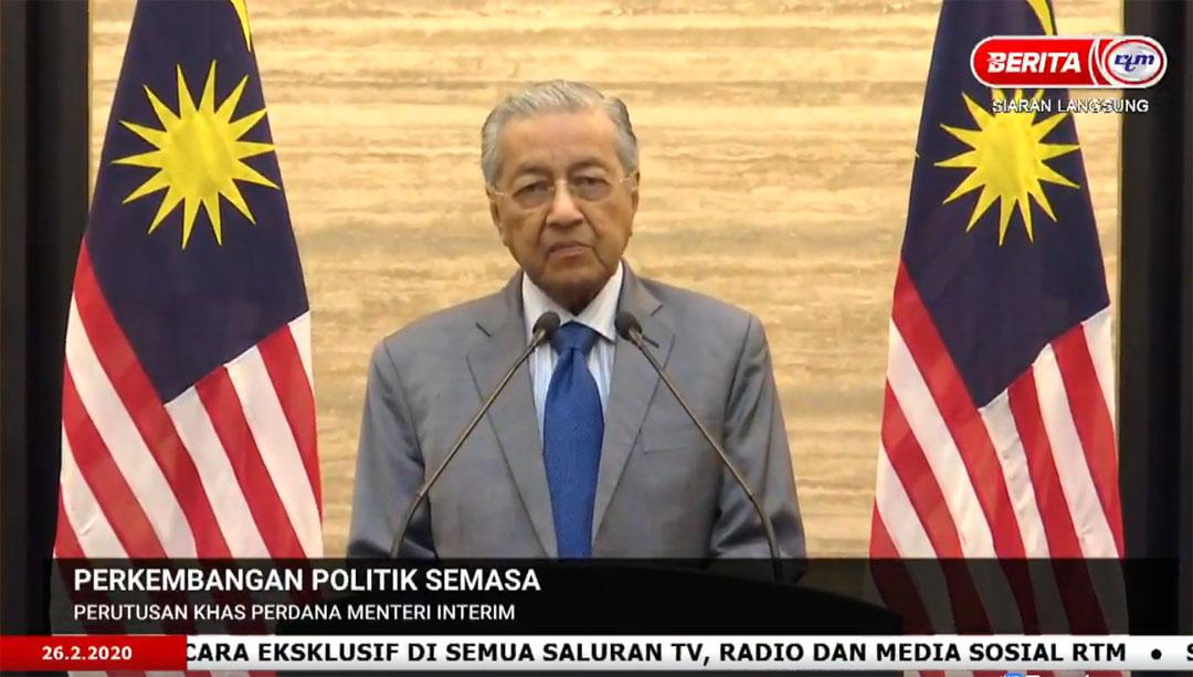 Teks dan Video Ucapan Tun Mahathir Mohamad Perdana Menteri Interim
