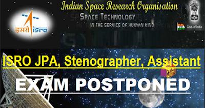 ISRO JPA Stenographer Online Form 2018