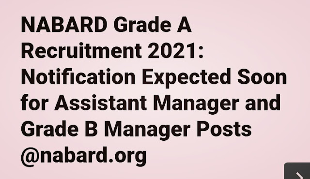 NABARD Recruitment 2021 Apply Online
