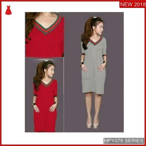 HPY076D61 Dress Geraldine Anak kerah Murah BMGShop