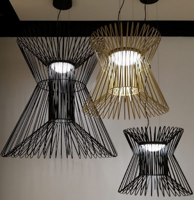 Modern lighting design with cages pendant lamp by Lumens