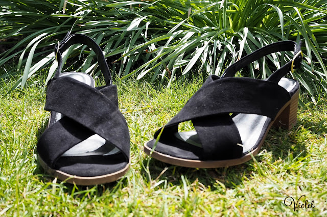 New Look black sandals