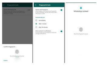 Cara Mengunci WhatsApp dengan Fingerprint