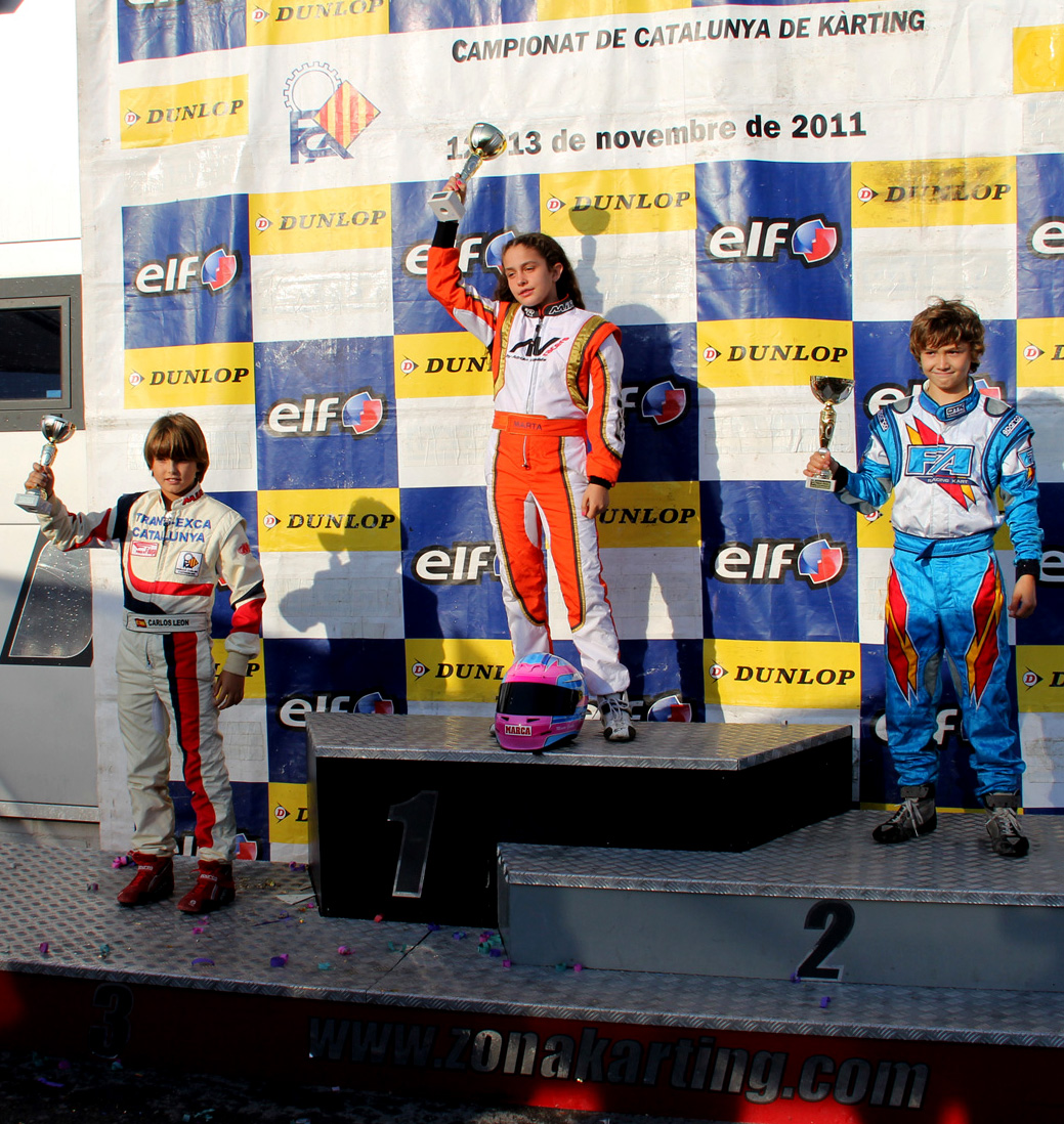 La Manga Karting: Benferri Karting Club: NUEVO PODIUM PARA MARTA GARCÍA EN