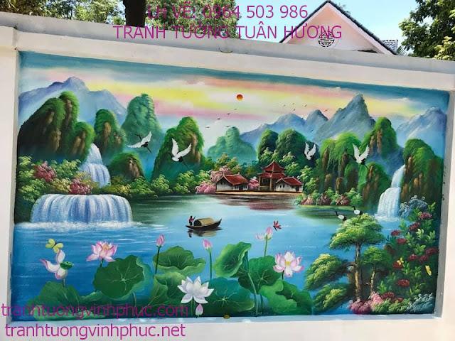vẽ tranh 3d tại khu 3 thôn trung tt yên lạc1