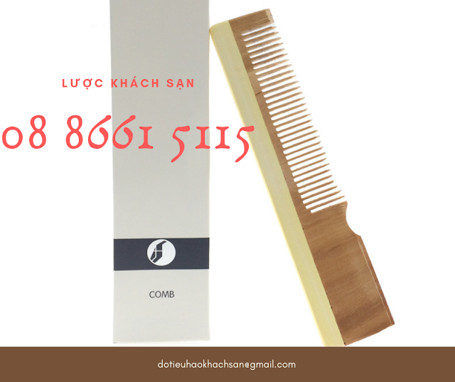 Lược gỗ cho khách sạn