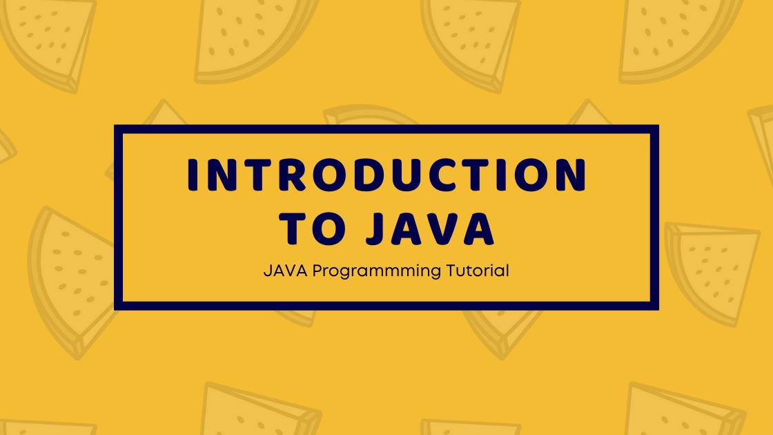 Introduction to Java : Java Programming Tutorial