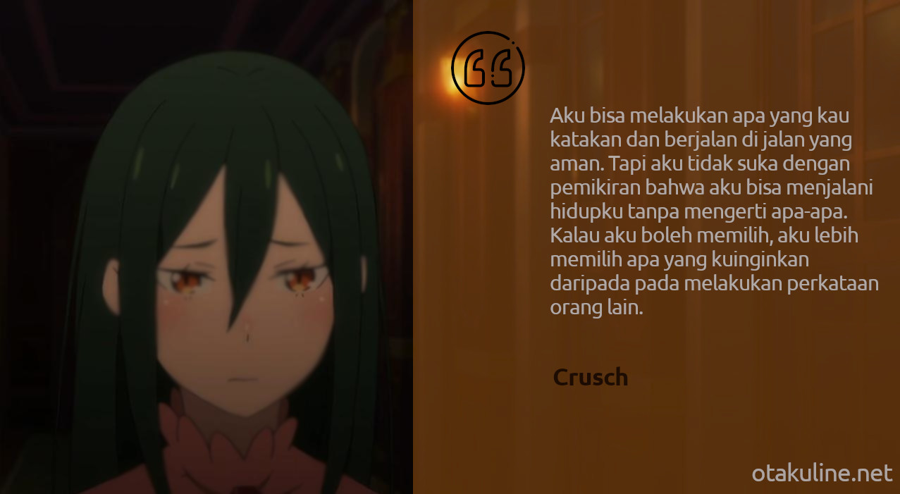Crusch Quotes Re:Zero