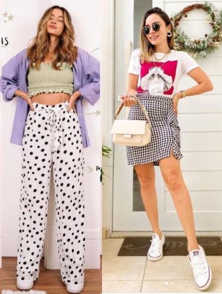 Guia de moda Looks estilosos com tênis, Viih Rocha, Jéssica Araújo