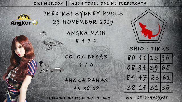 PREDIKSI SYDNEY POOLS 29 NOVEMBER 2019