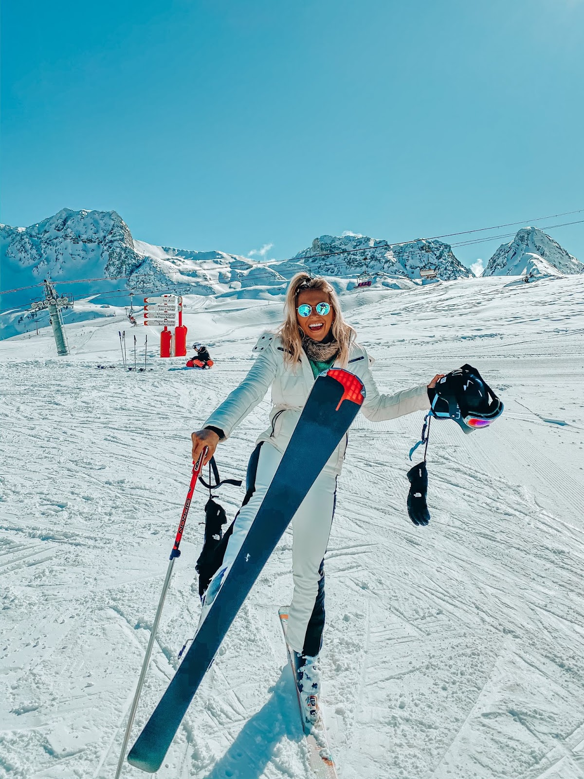 all white topshop ski kit