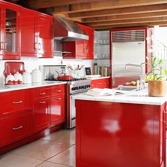 Red Kitchen Ideas Home Designs Plans