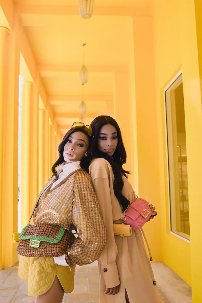Fendi unveils #BaguetteFriendsForever campaign with Winnie Harlow and Shannon Hamilton
