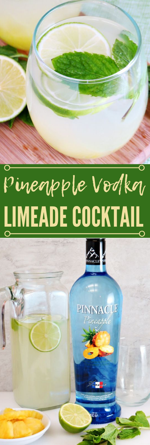 Pineapple Vodka Limeade #sangria #cocktail #vodka #smoothie #pineapple