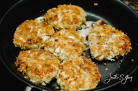 No. 021 - Crab Cakes and Fried Cabbage