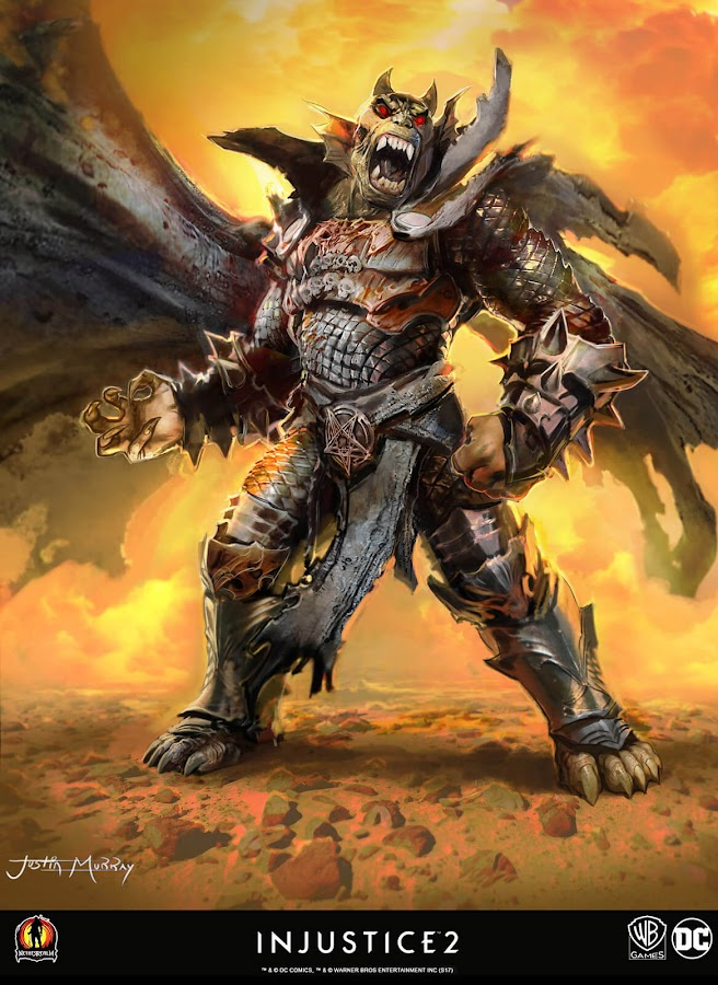 injustice 2 unused concept art etrigan the demon