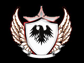 Logo Polos Perisai dengan simbol burung