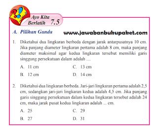 Jawaban Matematika Kelas 8 Ayo Kita Berlatih 7.5 Halaman 110 111 www.jawabanbukupaket.com