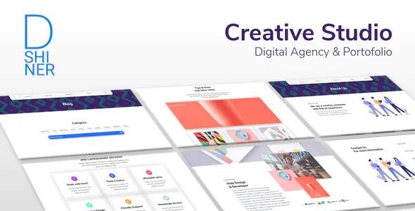 Best Creative Studio & Digital Agency Elementor Template Kit