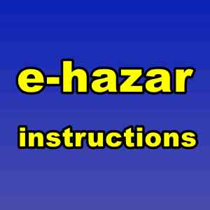 e-hazar important instructions
