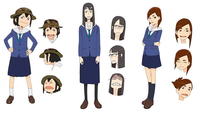 Eizouken ni wa Te o Dasu na! anime - pesonajes