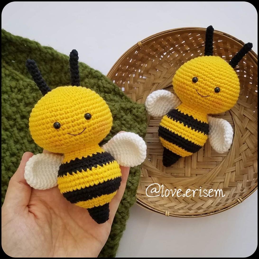 Heimlich the Bee, a Free Crochet Bee Pattern - Morine's Shop | 1092x1092