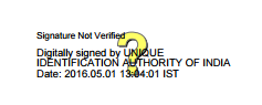 validate aadhar, digital signatures