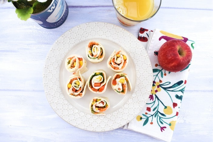 Vegetable Pinwheel Sandwiches for Kids
