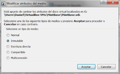 detalles disco diferenciacion virtualbox