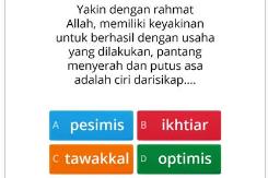 ULANGAN HARIAN ONLINE KE-7 PAI KELAS 9 SMP BERBASIS WEBSITE