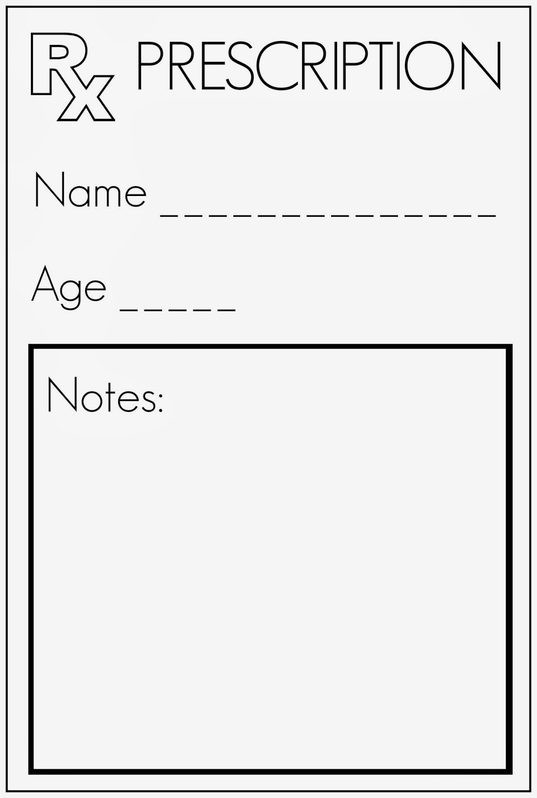 Rx Templates Prescription Layout