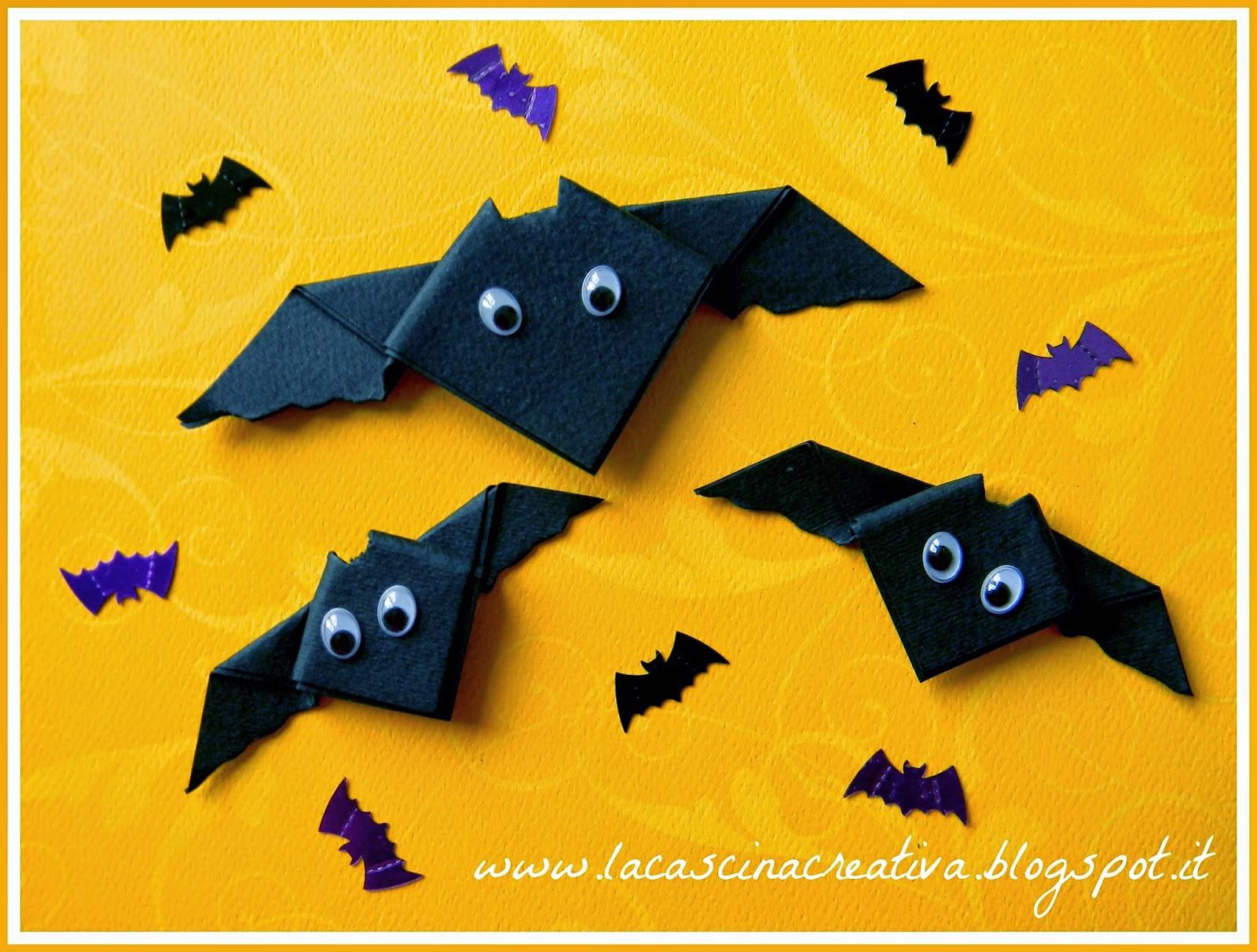 la cascina creativa  Pipistrelli origami per Halloween 3d57e5a14cd8