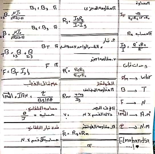 تلخيص الفيزيا 3 ثانوي أهم النقاط في 12 ورقه فقط 4