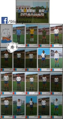 Hajduk Split album sličice Fudbaleri i Timovi 1976/77