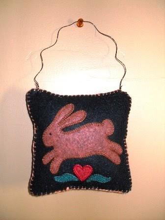 The Wool Garden Selling Blog Felt Applique Pillow Hangers