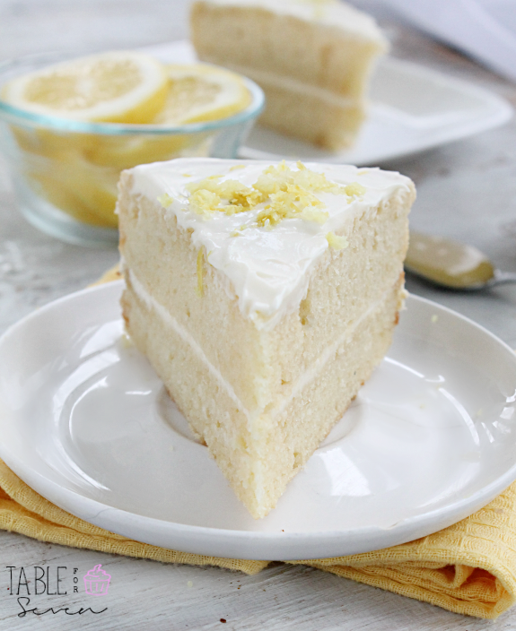 spring and summer.Layers of lemon cake with a creamy lemon frosting ...