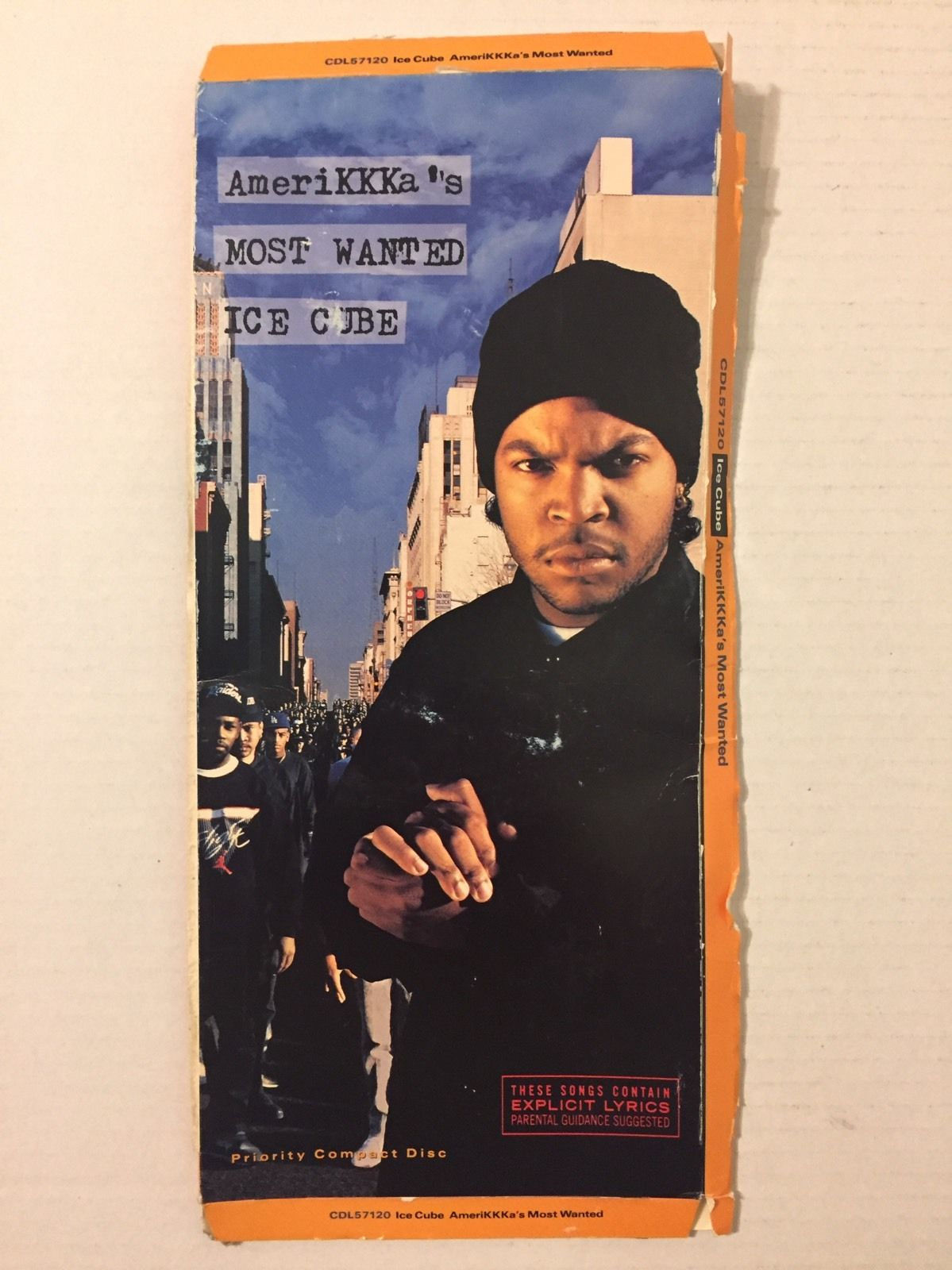 Ice Cube AmeriKKKa's Most Wanted 1990 Longbox CD