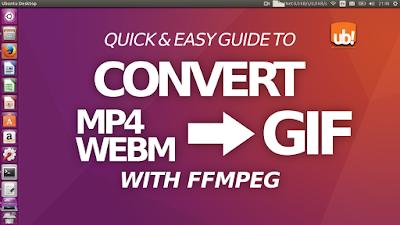 Convertir vídeo MP4/WEBM a GIF usando FFMPEG (y también reducir el tamaño)