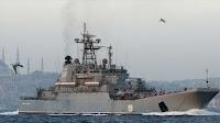 """Ο Πούτιν δείχνει ξανά τα δόντια του στο """"γατάκι"""" Ερντογάν — Δείτε τι έκανε ρωσικό πολεμικό πλοίο στα στενά του Βοσπόρου ➤➕〝📹ΕΙΚΟΝΑ〞"""