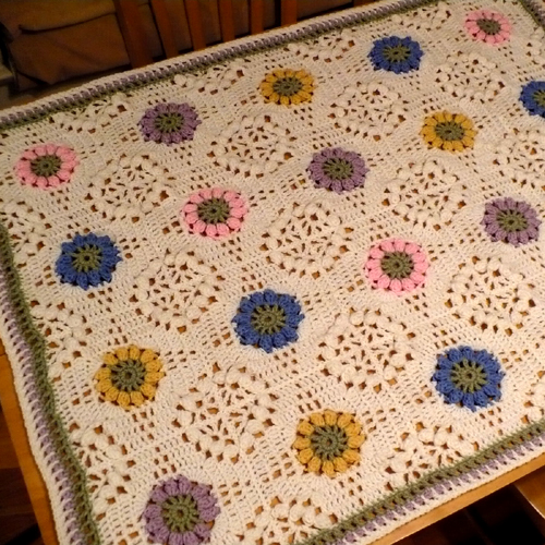 Floral Bouquet Afghan - Free Pattern