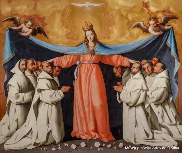 """""""Virgem de las Cuevas"""", tela de Francisco Zurbarán no Museu de Belas Artes de Sevilha"""