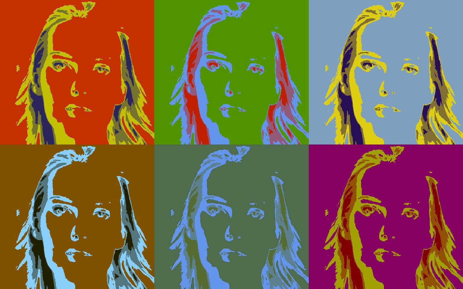 Gambar Pop Art Adriana Cernanova Gaya Andy Warhol Untuk Wallpaper