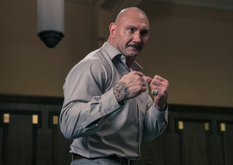 s Dave Bautista convincing as a baddie?