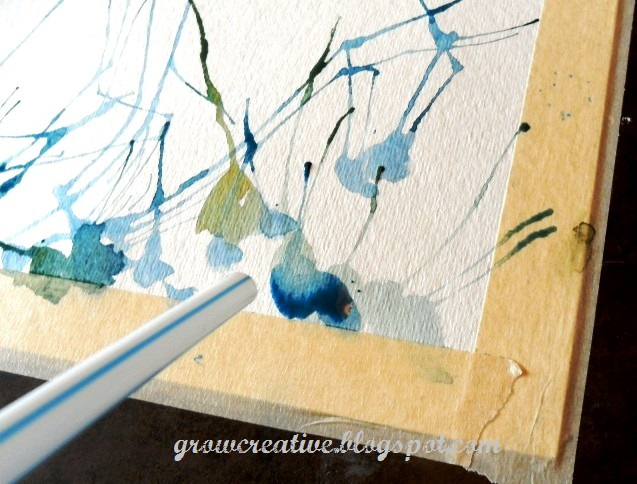 Straw Blowing Watercolor Art Project: Grow Creative Blog