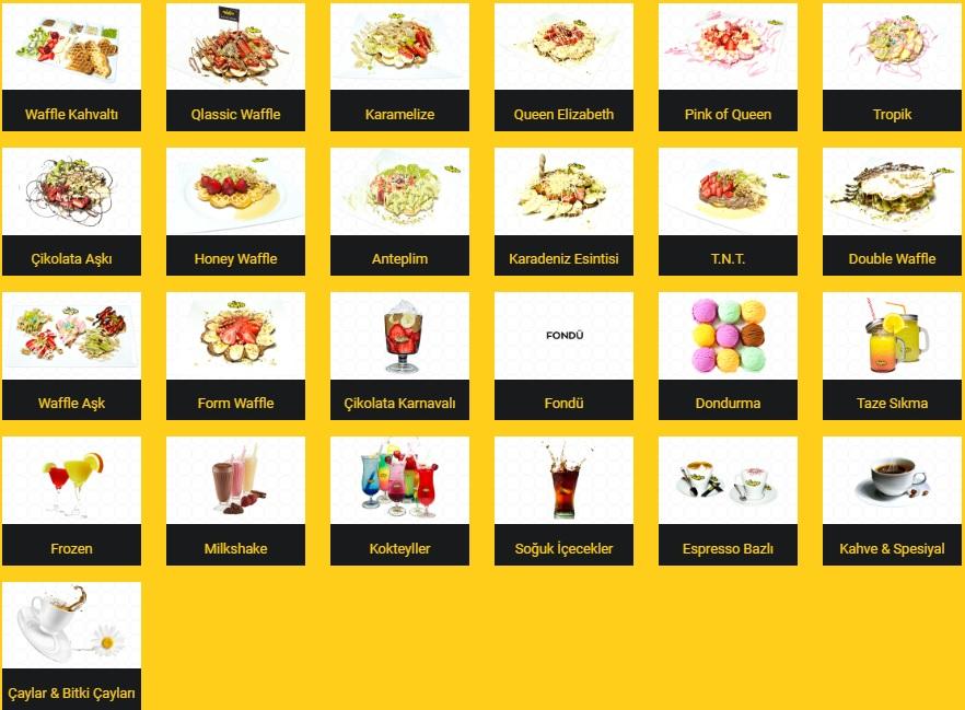 queen waffle talas menü listesi