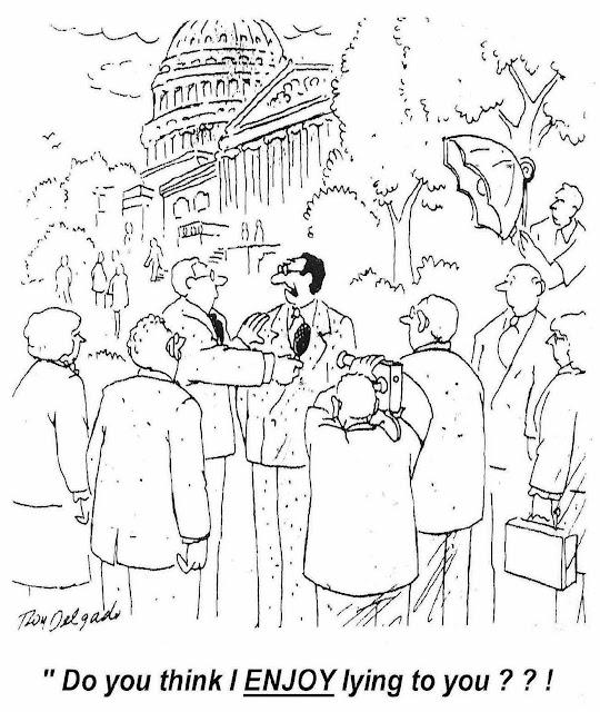 a Roy Delgado cartoon about politics and news interviews