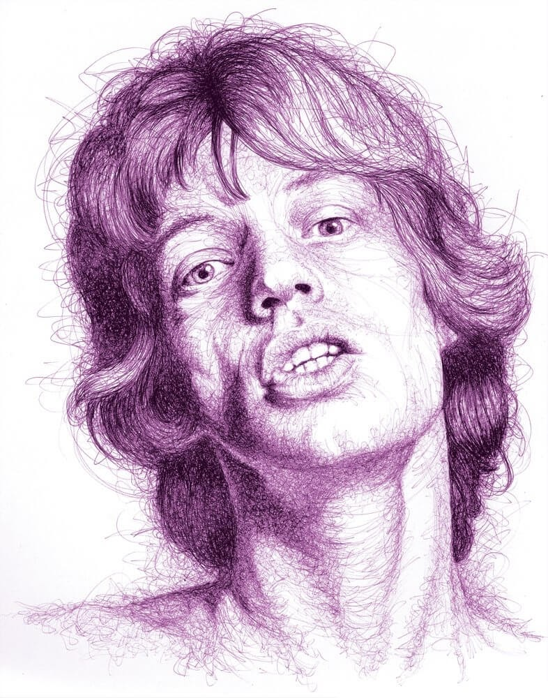 07-Young-Mick-Paul-Kobriger-Ballpoint-Pen-Portrait-Drawings-Stippling-and-Scribble-www-designstack-co