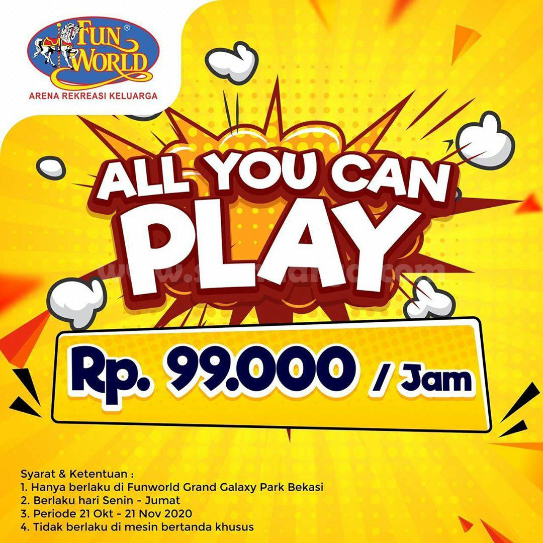 Promo FUNWORLD Paket All You Can Play cuma Rp 99.000