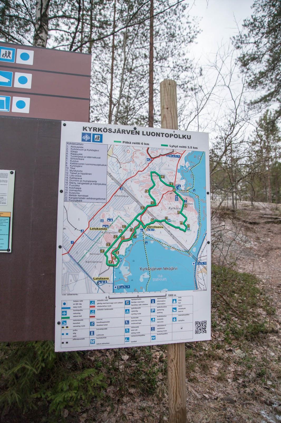 luontopolku kartta metsä loma talviloma